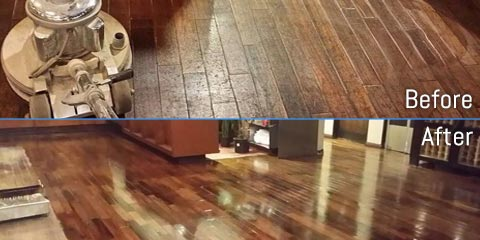 Before & After of Hardwood Floor Refinishing Atlanta, GA