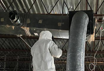 Air duct disinfecting