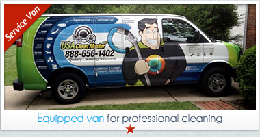 professional equipped cleaning van